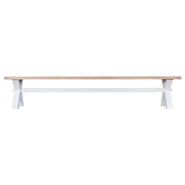 Easby Collection White Large Cross Bench