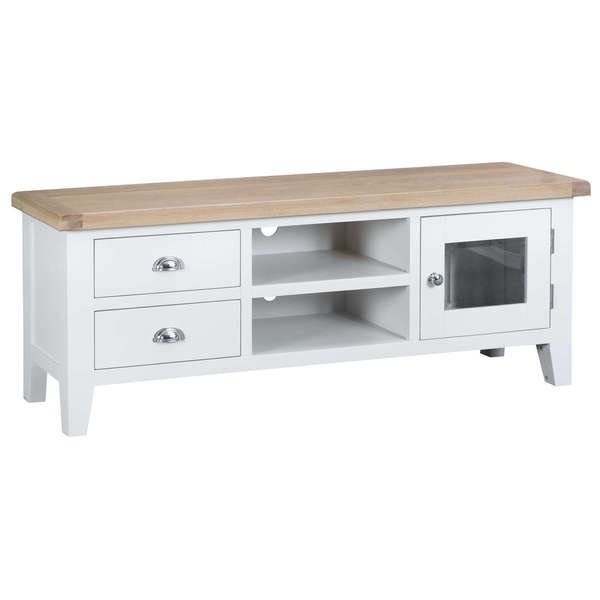 Easby Collection White Large TV Unit