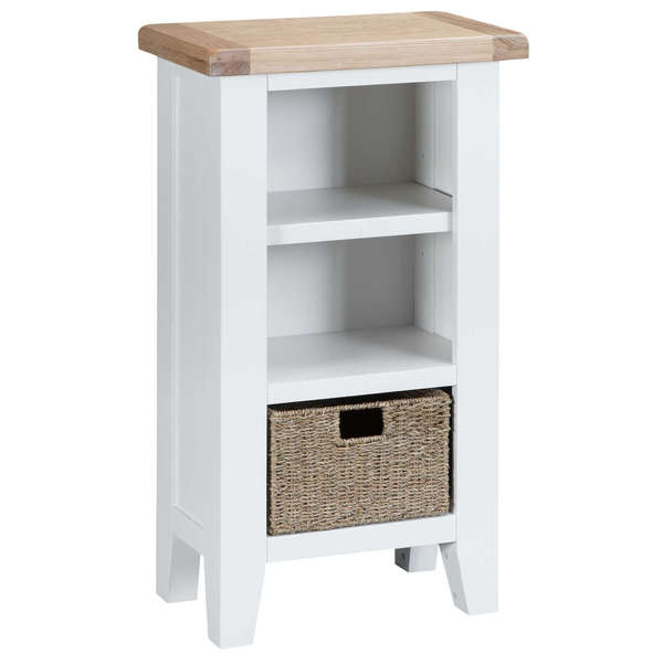 Easby Collection White Narrow Bookcase