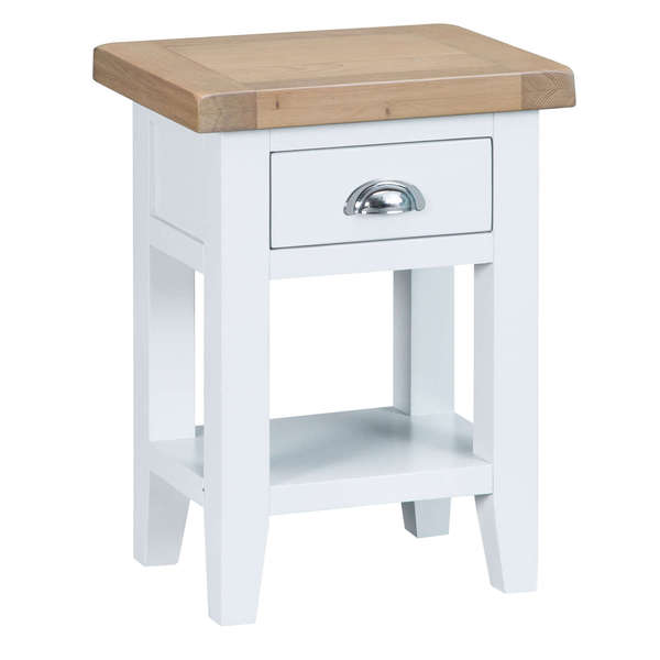 Easby Collection White Side Table