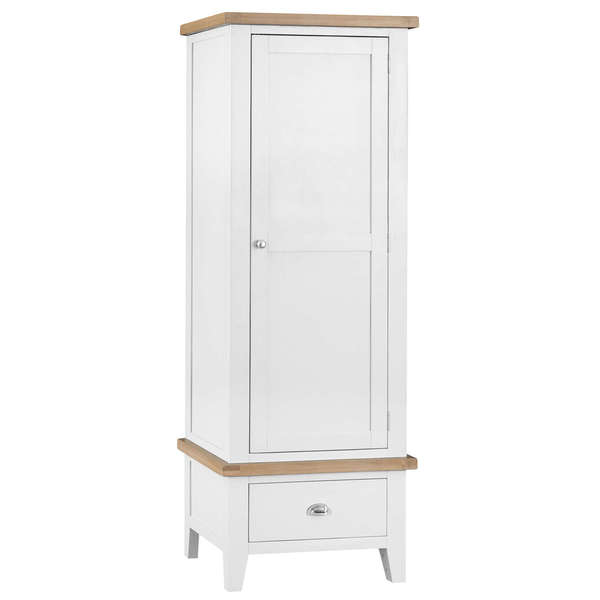Easby Collection White Single Wardrobe