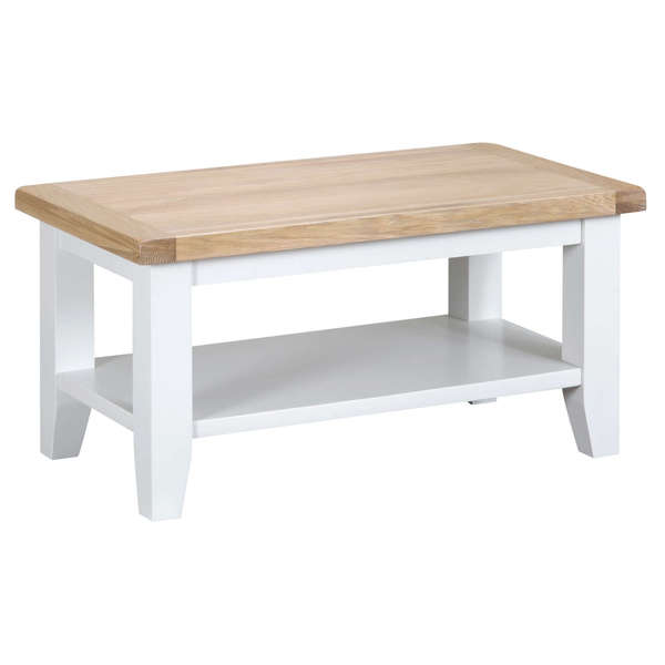 Easby Collection White Small Coffee Table