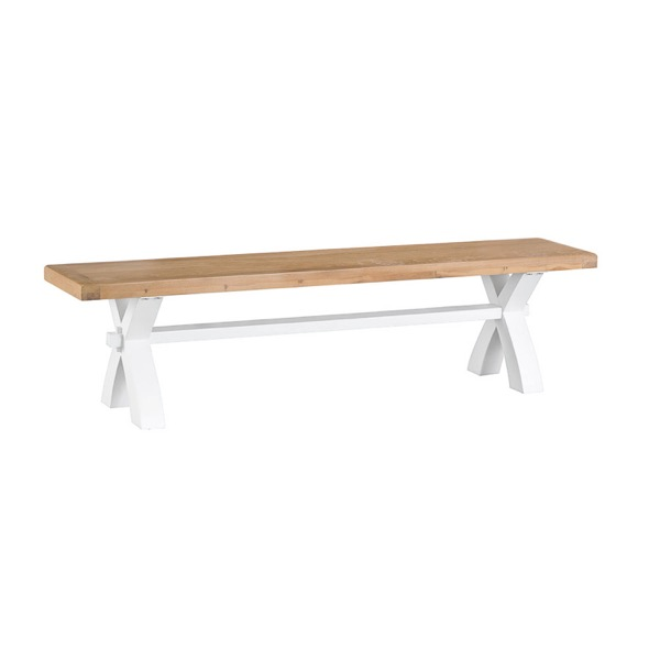 Easby Collection White Small Cross Bench