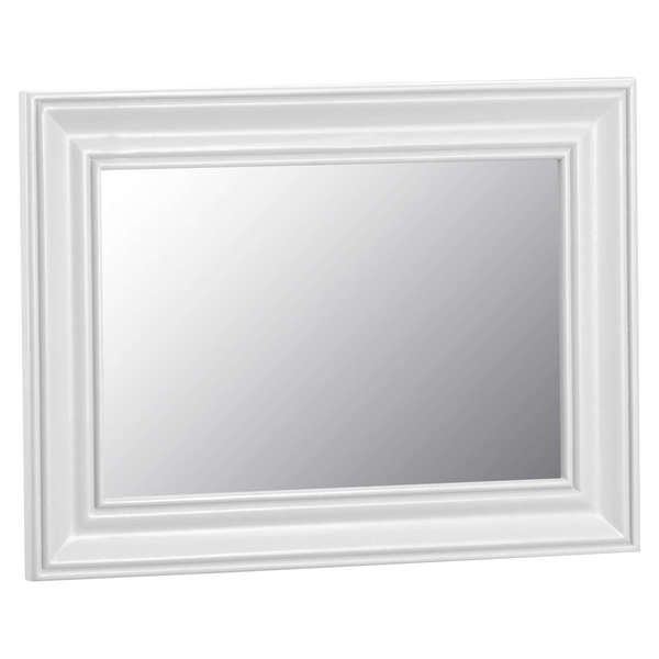 Easby Collection White Small Wall Mirror