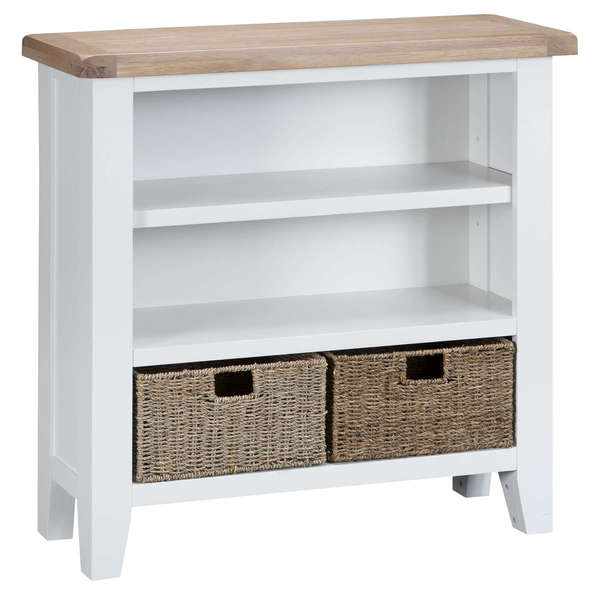 Easby Collection White Small Wide Bookcase