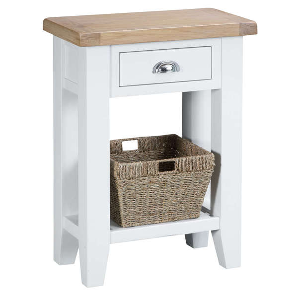 Easby Collection White Telephone Table