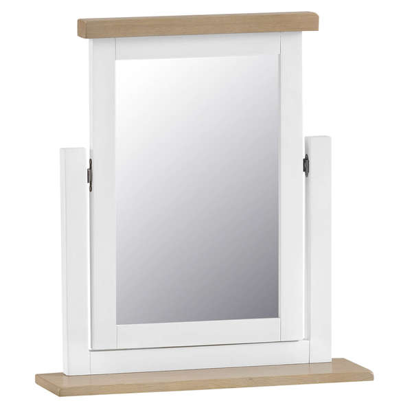 Easby Collection White Trinket Mirror