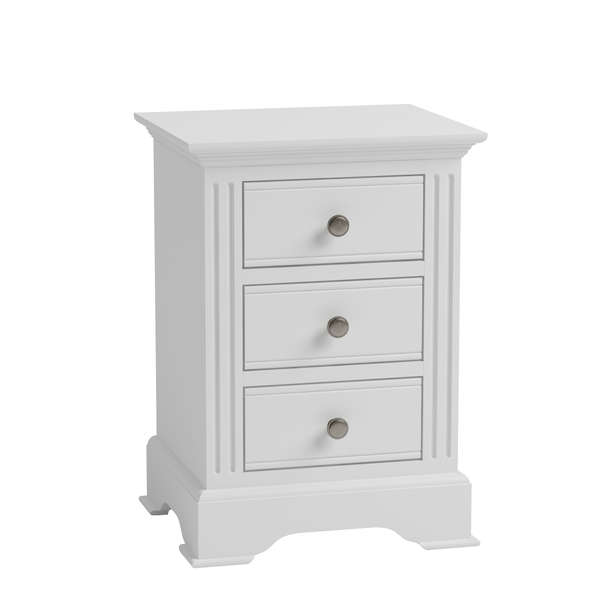 Essentia Collection White Large Bedside Cabinet