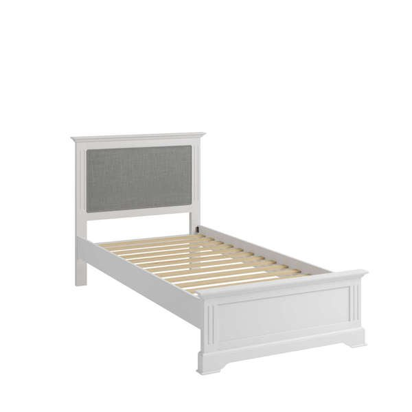 Essentia Collection White Single Bed Frame
