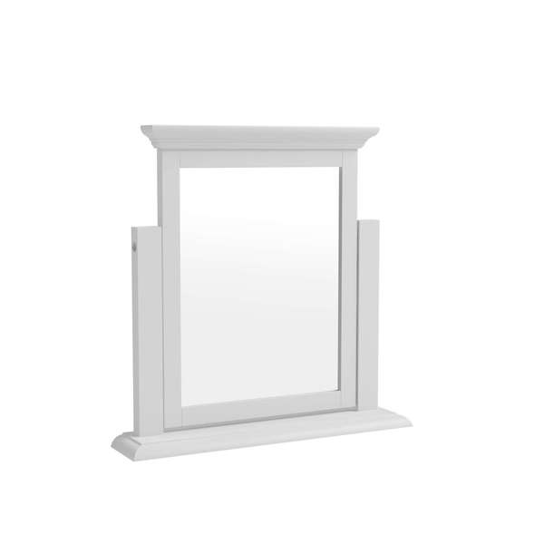 Essentia Collection White Trinket Mirror