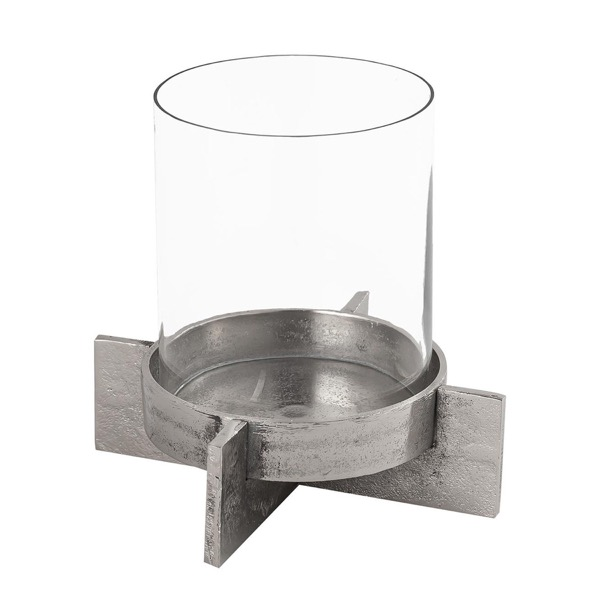 Farrah Collection Silver Candle Holder