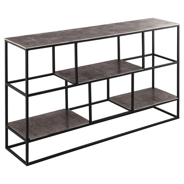 Farrah Collection Silver Multi Shelf Unit