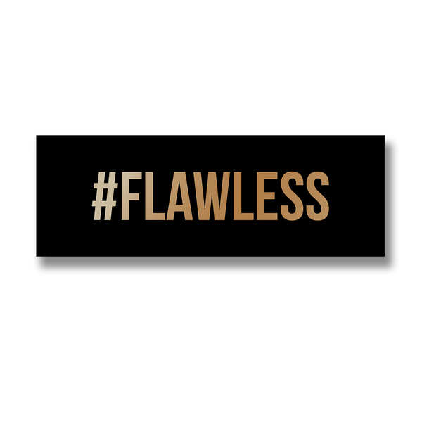Flawless Gold Foil Plaque