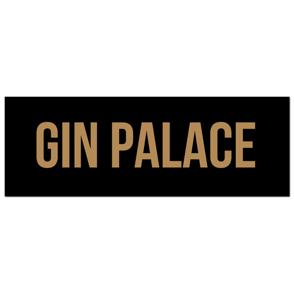 Gin Palace Gold Foil Plaque