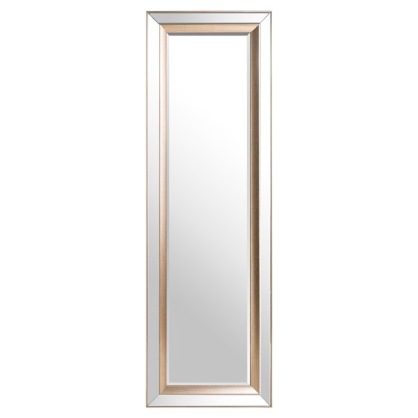 Grand Pilton Mirror With Brass Inlay