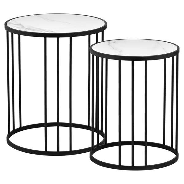 Grey And Marble Set Of 2 Tables