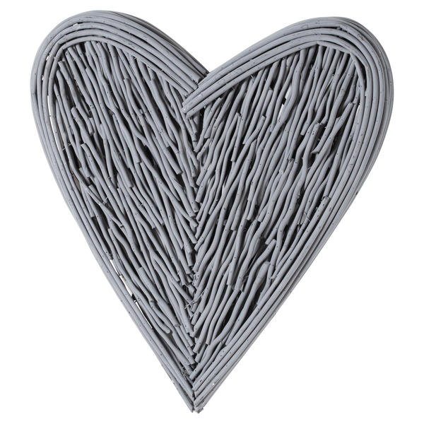 Grey Small Willow Branch Heart