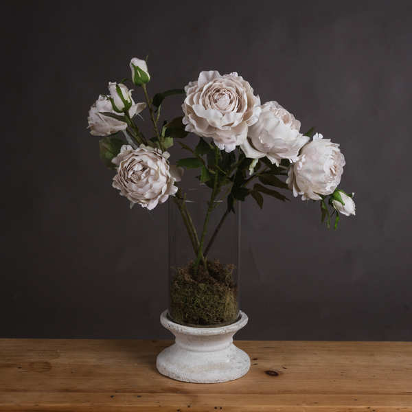 Grey Spray Rose Peony