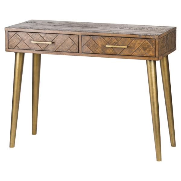 Havana Gold 2 Drawer Console Table