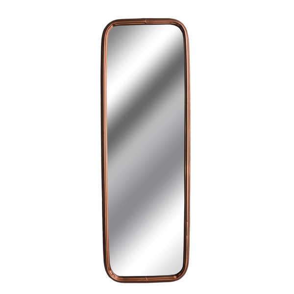 Industrial Rectangular Copper Finish Mirror