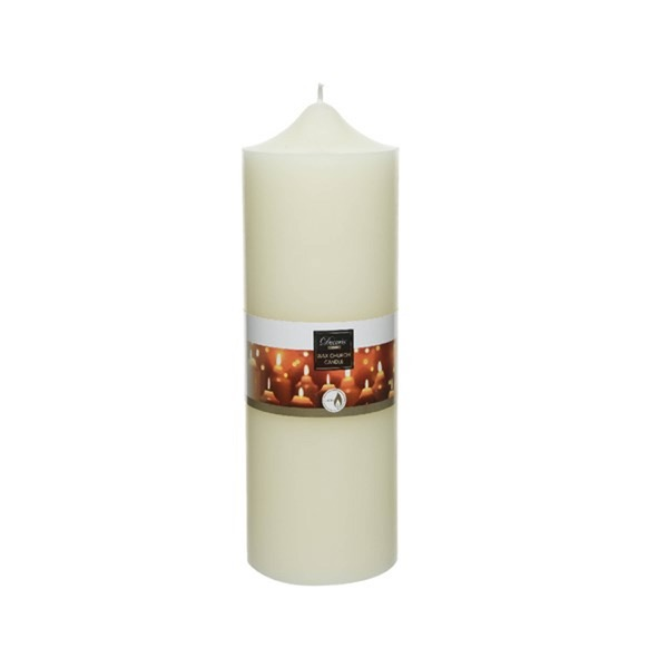 Ivory Wax Church Candle 10X30Cm