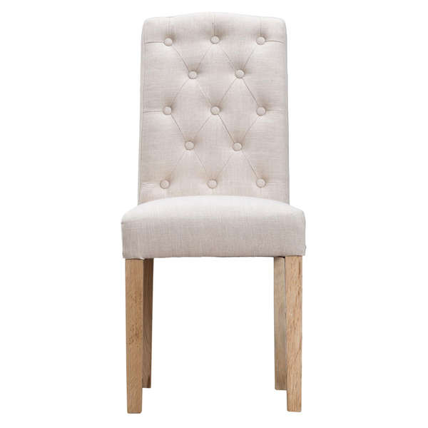 Jervaulx Chair Collection Button Back Chair Beige