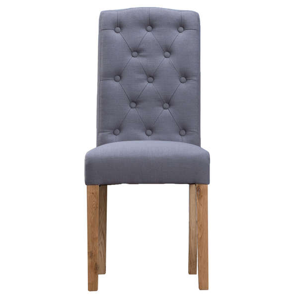 Jervaulx Chair Collection Button Back Upholstered Chair Grey