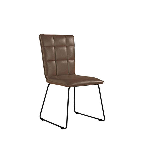 Jervaulx Chair Collection Panel back chair Brown