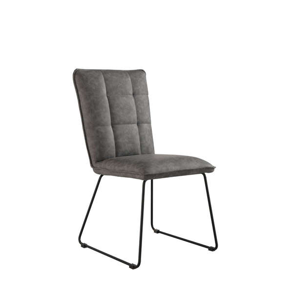 Jervaulx Chair Collection Panel back chair Grey