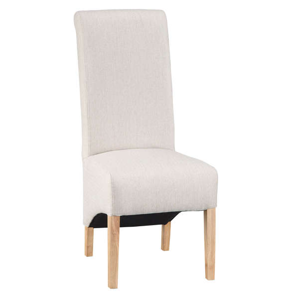 Jervaulx Chair Collection Scroll Back Chair Plain Cappuccino