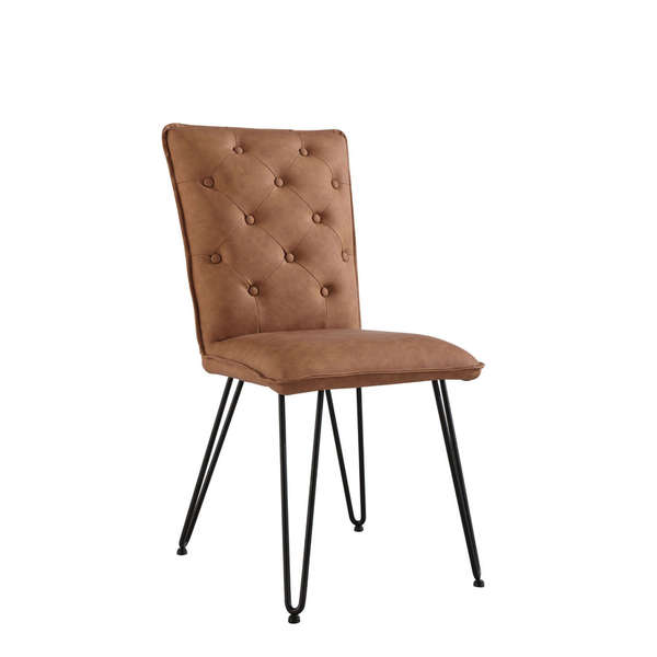 Jervaulx Chair Collection Studded back chair Tan
