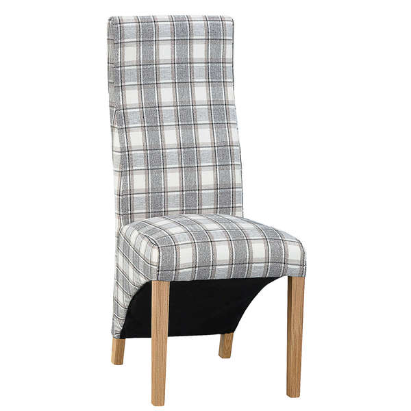 Jervaulx Chair Collection Wave Back Chair Cappuccino Check