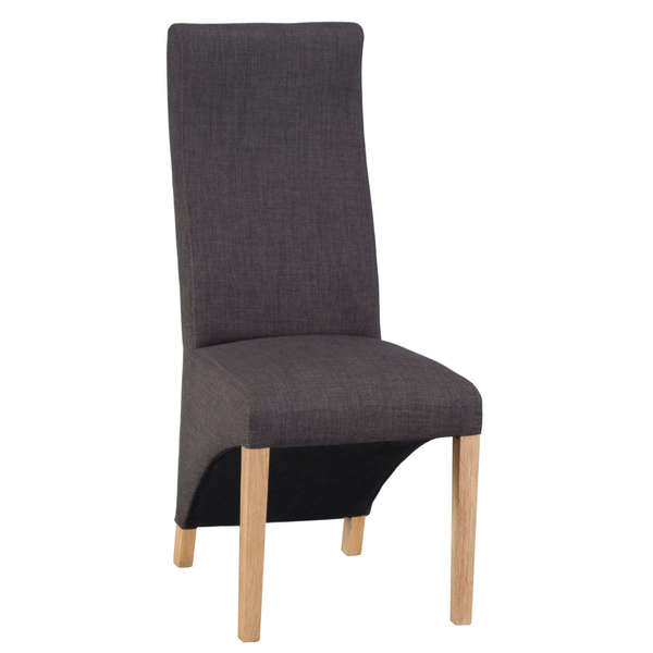 Jervaulx Chair Collection Wave Back Chair Plain Charcoal