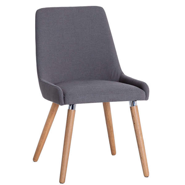 Kirkham Collection Retro Style Grey Fabric Chair