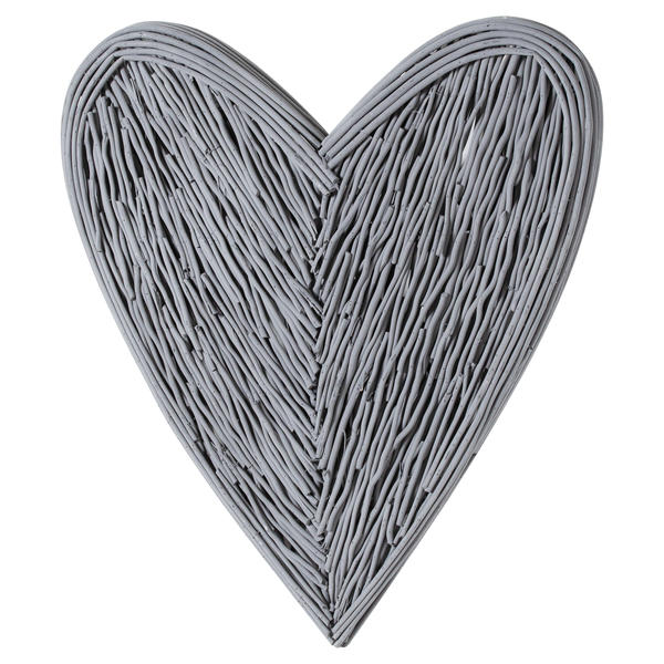 Large Grey Willow Branch Heart