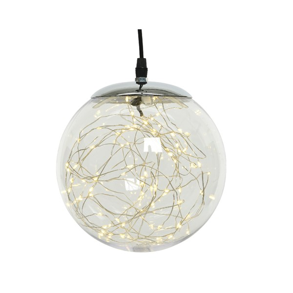 Large LED Pendant Sphere With Microlights