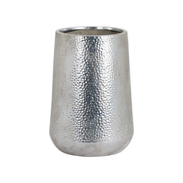 Large Metallic Ceramic Tapered Vase