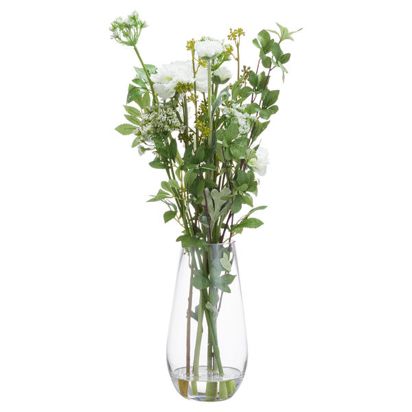 Large Peony Arrangement In Glass Vase