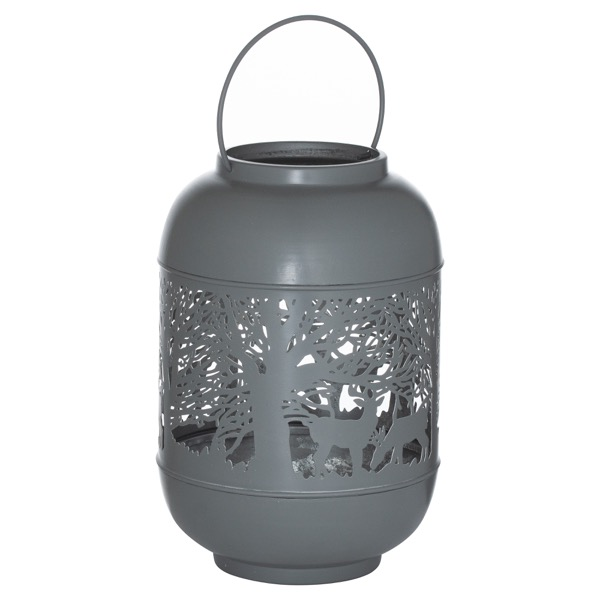 Large Silver And Grey Glowray Dome Forest Lantern