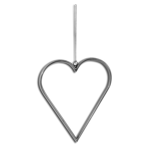Large Silver Hanging Heart