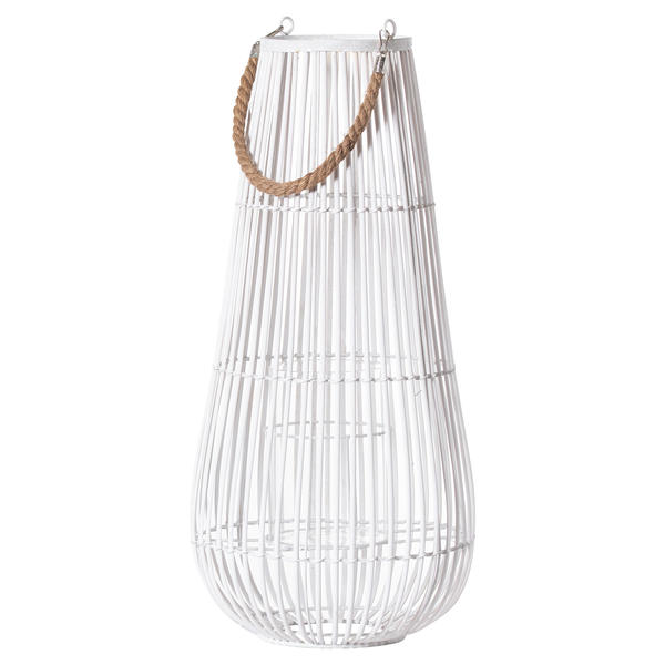 Large White Domed Lantern With Rope Detail
