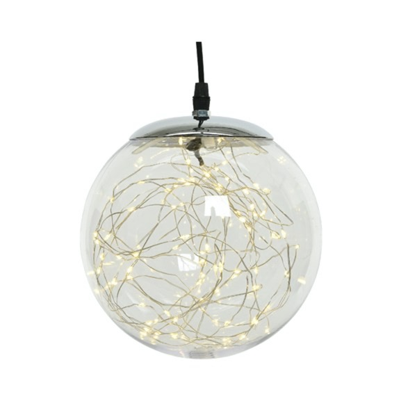 LED Pendant Sphere With Microlights