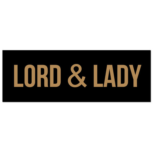 Lord & Lady Gold Foil Plaque