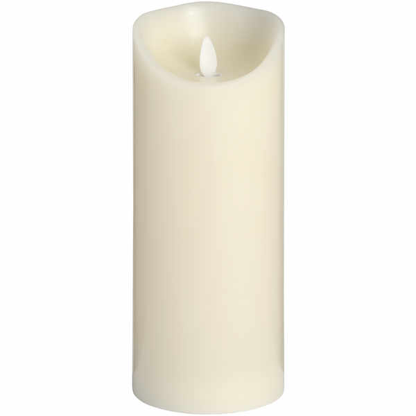 Luxe Collection 3.5 x9 Cream Flickering Flame LED Wax Candle
