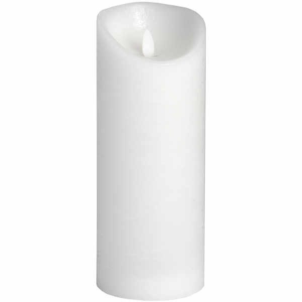 Luxe Collection 3.5 x9 White Flickering Flame LED Wax Candle