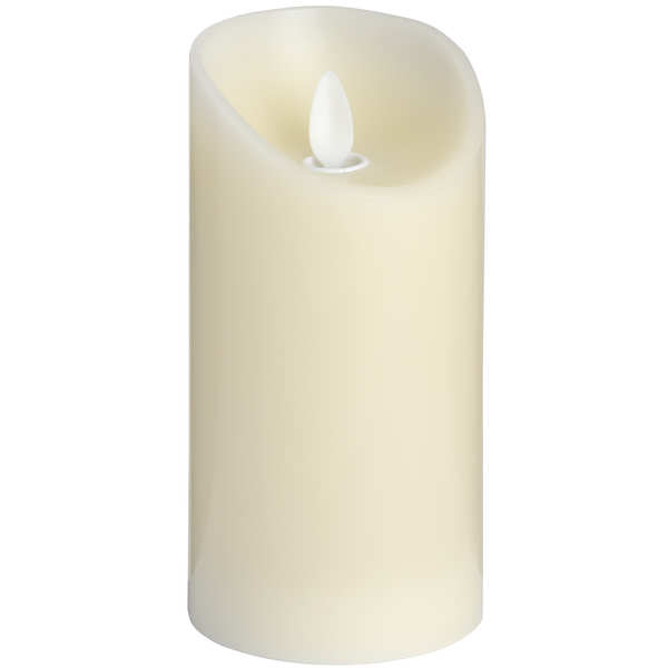 Luxe Collection 3 x 6 Cream Flickering Flame LED Wax Candle