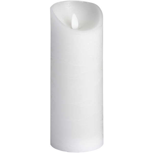 Luxe Collection 3 x 8 White Flickering Flame LED Wax Candle