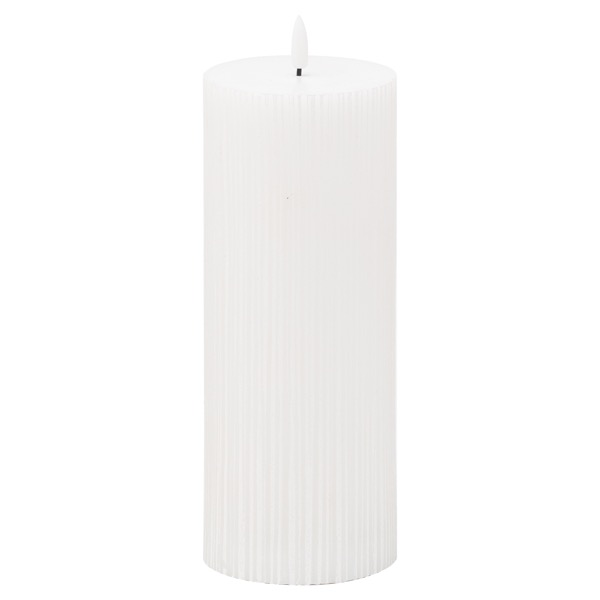 Luxe Collection Natural Glow 3.5x9 Texture Ribbed LED Candle