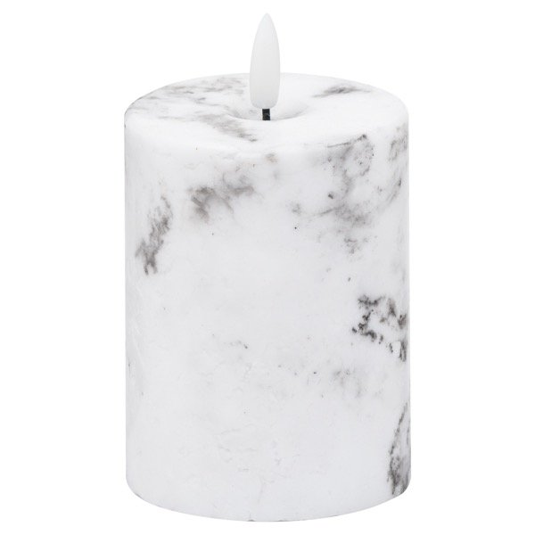 Luxe Collection Natural Glow 3x4 Marble Effect LED Candle