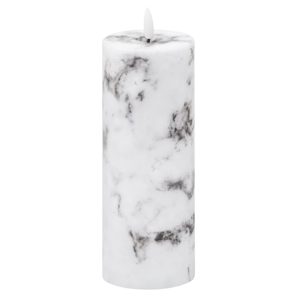 Luxe Collection Natural Glow 3x8 Marble Effect LED Candle